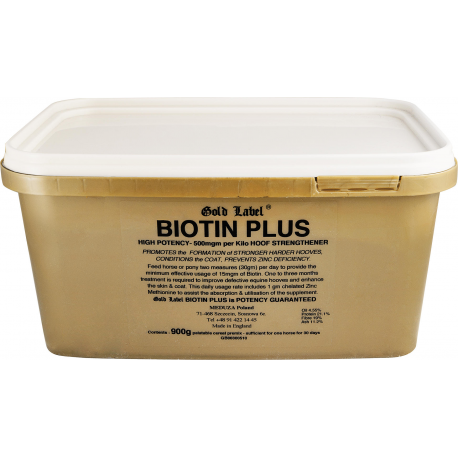 GOLD LABEL Biotin Plus Biotyna z cynkiem 900 g