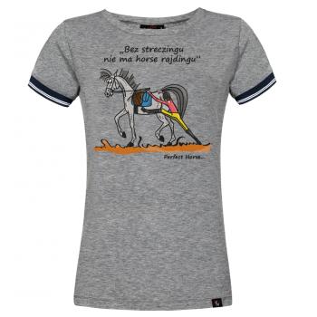 """T-shirt damski """"Streczing"""" granatowa"""