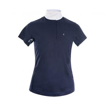 Koszulka konkursowa Horze Blaire z krótkim rękawem granatowa