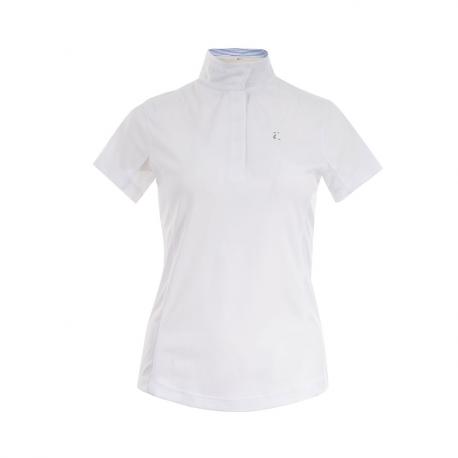 Koszulka konkursowa Horze Blaire z krótkim rękawem biała