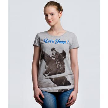 Koszulka jeździecka Horsense Let's Jump damska