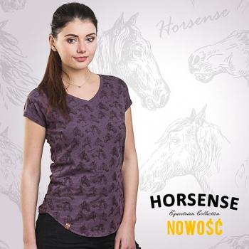 Koszulka jeździecka Horsense Wee Violet