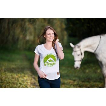 Koszulka jeździecka Horsense Spring Leaves damska
