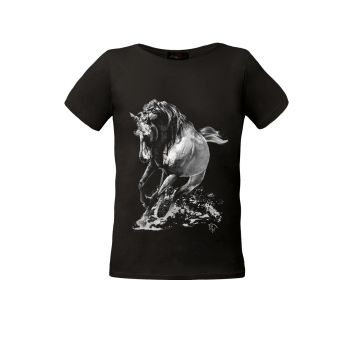 """Koszulka dziecięca Impression """"Gallop"""" czarny"""