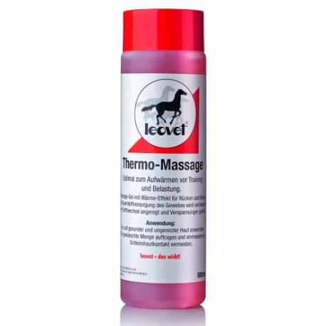 Żel rozgrzewający dla koni Leovet Thermo massage 500 ml