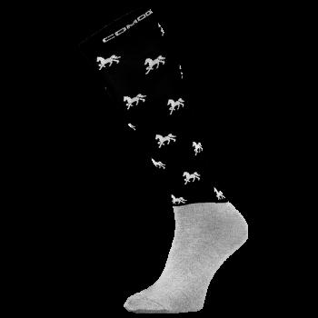 Podkolanówki skarpety Comodo w koniki z mikrofibry