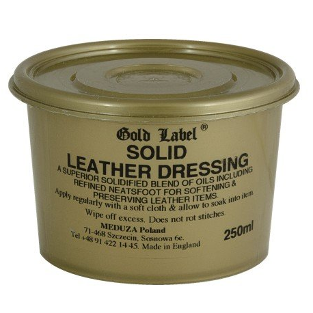 GOLD LABEL Solid Leather Dressing pasta do skór 250 ml
