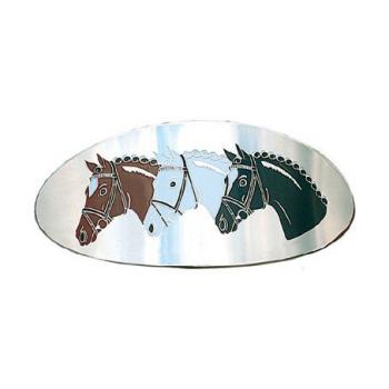 Klamra do włosów trzy konie owalna metalowa